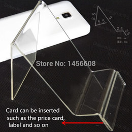 Wholesale White Acrylic Display Stands - Acrylic phone display stand Cell phone mounts Holder for 6inch iphone samsung HTC at good price free shipping