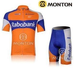 Wholesale Team Cycle Jerseys Wholesale - new style new fashion Outdoor Cycling Set RaboBank cycling Team jersey Bike Jerseys Short Sleeve bike sets brooks cycling jersey
