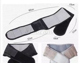 Wholesale Strap Massager - Hot Magnetic Slimming Massager Belt Lower Back Support Waist Lumbar Brace Belt Strap Backache Pain Relief Health Care MYY