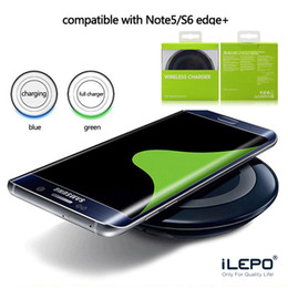 Wholesale Qi Wireless Charger Pad Eu - QI Wireless Pad Charger Tablet Wireless Fast Charging Portable For Phone Samsung Galaxy S7 S8 Plus Edge Note 8 i Phone 8 X With Retail Box