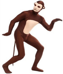 Wholesale Monkey Adult Mascot - 2016 New Monkey Zentai Adult Stage Outfits Catsuit BodySuit Tights Cartoon Anime Costumes Mascot Costumes Performers