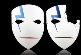 Wholesale Darker Black Cosplay - High Quality Darker Than Black Japanese Masks Cosplay Hei Lee Anime Masks Hot New Home Decor Halloween Resin Half Full Face Mask