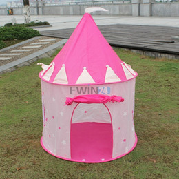 Wholesale Tent Play Free Shipping - Hot Selling! Beautiful Pink Princess Castle Play Tent for Kids Children Playhouse Lightweight Portable Free Shipping