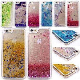 Wholesale S4 Quicksand Case - Floating Glitter Star Running Quicksand Liquid Dynamic Hard Case Shining Cover For iPhone 4 5 6 Plus Samsung Galaxy S4 S5 S6 Note 3 Note4