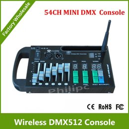 Wholesale Dmx Consoles - DHL free shipping wireless dmx console with 9V battery powered to control led stage light