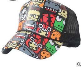 Wholesale Truck Mesh Hats Free Shipping - Wholesale-Free shipping chun xia han edition flower design adjustable zoo truck mesh hats for men and women leisure sun hat