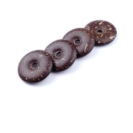 Wholesale Diy Jewellery Accessories - Unique Tradition Chinese Lucky Charm Amulet Coconut Beads Donut In bulk DIY Lucky Jewellery Accessories BYYLC3006 10pcs lot