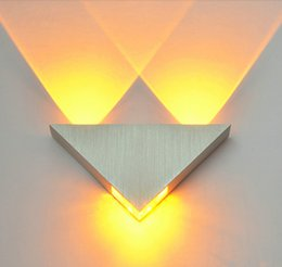 Wholesale Art Deco Wall Lighting - HOT High quality Indoor 3W LED Wall Lamp AC110-220V Aluminum Sconce KTV   Bar   Corridor Decorate Wall Light Y-56