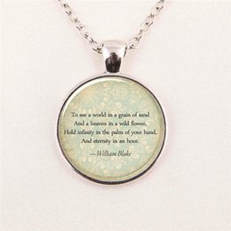 Wholesale Personalized Picture Jewelry - Wholesale Personalized Picture Necklace Jewelry Quote Art Glass Cabochon Personalized For Poem pendant glass gemstone necklace 146