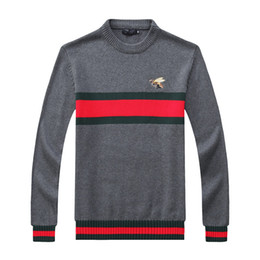 Wholesale Grey Knit Sweater - Free shipping 2017 new high quality mile wile polo brand men's twist sweater knit cotton G & G sweater jumper pullover sweater men
