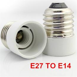 Wholesale Conversion Sockets - New Fireproof Material E27 to E14 lamp Holder Converter Socket Conversion light Bulb Base type Adapter
