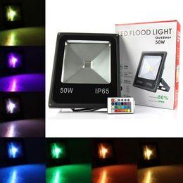 Reflector led rgb online-Iluminación de exterior 10W 20W 30W 50W RGB Focos reflectores a prueba de agua Led de luz de inundación Paisaje Lámpara de pared AC 85-265V ce ul DLC