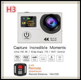 Wholesale Hd Professional Camcorder Wholesale - Original H3R 4K Ultra HD WIFI Action Cameras 2.4G Remote Controller waterproof Sport Camera Video Camcorders 2.0 LCD 1080P 170 Lens