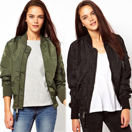 Wholesale Microfiber Jacket Women - 2015 Fall Autumn Fashion Women's Jacket Coat With Zipper Waterproof Wind-Proof Smooth Army Air Force Pilot Fly Tactical Clothing SY9001