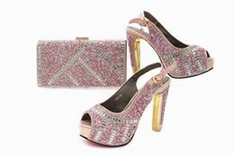 Bolso del zapato de la boda online-2017 populares zapatos italianos y el conjunto de bolsas de señora zapatos de tacón alto bolso a juego de alta calidad para la boda del partido