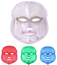 Wholesale Led Therapy Skin Rejuvenation - 3 color LED Facial Mask Skin Care Photon Skin Rejuvenation PDT Therapy Acne Wrinkle Removal Anti aging machine