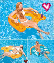 Wholesale Wholesale Mens Items - Seated Floating Row Fashion Womens & Mens Transparent and Colorful Water Recreation Inflatable Floating Row of Chairs