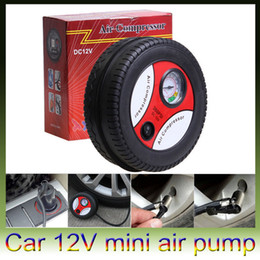Wholesale Motorcycle 12v Air Pumps - Car Styling Inflatable Pump 12V 260PSI Mini Portable Balls Rubber Boat Bike Car Air Compressor Tire Electric Inflater Auto Pumps