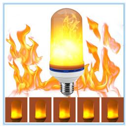 Wholesale Led Flicker Bulbs - 2017NEW 7 W LED Vlam Effect Fire Gloeilampen Flickering Emulatie Decoratieve Lampen Gesimuleerde Vintage Vlam E27 Lamp voor Club Bar