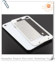 Wholesale Iphone4 Housing White - obile Phone Accessories Parts Mobile Phone Housings Mobile Phone Back Housing for iPhone4   4s Black White Battery Door Wholesale Back Gl...
