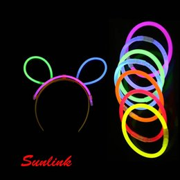 Wholesale Glow Sticks For Fishing - hair clasp style multi colors Light Emitting Stick fish light glow stick christian gift toy for girl Chemical fluorescent