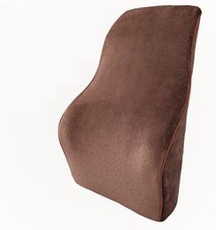 Wholesale Office Chair Neck Pillow - New Memory Foam Lumbar Back Support Cushion Pillow Car Seat Office Chair