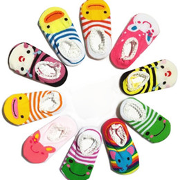 Wholesale Baby Branded Shoes Wholesale - Baby Boat Socks Children's Shoes Antiskid Non-slip Bottom Cartoon 9-15cm Kids Toddle Socks 60pair Loose Spring Autumn Baby Socks