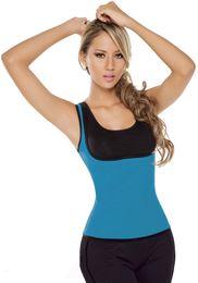 Wholesale Sport Traning - Newest Women Ultra Sweat Enhancing Thermal Vest Sports Neoprene Body Shaper Corset Waist Traning with Side Zipper