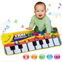 Wholesale Mat Education - Baby Music Carpet Animal Pattern Baby Touch Play Keyboard Musical Piano Game Mat Blanket Early Education Toys OOA3609