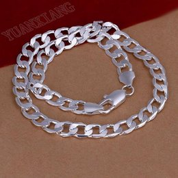 Wholesale Sterling Silver Wave Chains - Free shipping, wholesale fashion jewelry, 925 sterling silver 12mm, 20inch wave necklace, Men's Must Haves
