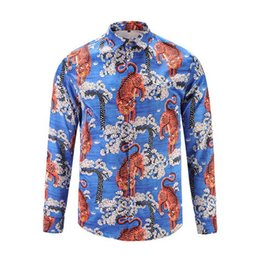 Wholesale Mens Slim Fit Silk Shirts - 2017Free shipping New Mens Designer Brand Long sleeve plus size Shirt Men's Slim Fit big size Shirts For Men