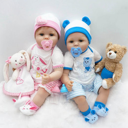 """Wholesale Toy Baby Doll Lifelike - Wholesale- New 22"""" 55cm Silicone reborn Super baby Lifelike toddler Baby Bonecas kid doll bebe reborn Brinquedos silicone toys for children"""