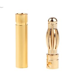 Wholesale Banana Connectors Rc - High Quality 10 Pairs 4.0mm Copper Bullet Banana Plug Connectors Male Female for RC Motor ESC Battery Part 63