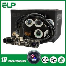 Wholesale Small Camera Endoscope - MJPEG 30fps 1280x720 720p hd OV9712 smallest 120 degree Dual lens usb endoscope camera module for device embedde ELP-1MP2CAM001