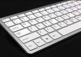 Teclado bluetooth sem fio para tablet on-line-Universal ultrafinos teclado sem fio bluetooth para ipad tablet android pc desktop computador protable mini qwerty teclados