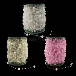 Wholesale Wedding Centerpieces Beads - 5 Meters Fishing Line Pearls Beads Chain Garland Flowers Wedding Party Decoration Bead Chain yxz-