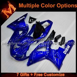 23colors + 8Gifts capucha motocicleta azul para Yamaha YZF-R1 1998-1999 YZFR1 98 99 ABS carenadas de plástico casco kit de carrocería desde fabricantes