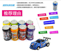 Wholesale Cheap Toy Plastic Cars - 60Pcs Cheap Mini Coke Can RC Radio Remote Control Micro Racing Car Hobby Vehicle Toy Christmas Gift DHL Free Shipping