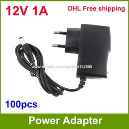 Wholesale Plug Ue - AC DC 12V 1A Power Supply adapter 12V Adaptor For CCTV Cameras EU   US Plug High Quality 100pcs Fedex   DHL Free shipping