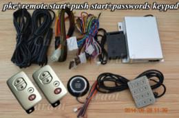 Wholesale Popular Keyless Entry - ke car alarm system with popular car smart key,universal model,push start stop button,remote start stop,shock side door alarm Alarm Syste...