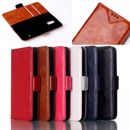 Wholesale Holder Cases For Galaxy Mega - Litchi Oil Skin Leather Stand Holder Case Cover Credit Card Slots Cases For Samsung Galaxy S5 Mini G870a G870W Mega 2 G750F 1pcs 5pcs