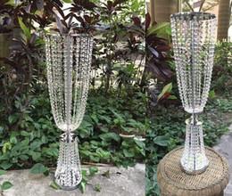 2019 vasos de cristal alto Atacado i tall and large111 de ferro banhado a cristal vaso de metal uma flor / vasos de metal para o casamento / altos vasos de metal decoração de casamento