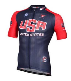 Wholesale Team Cycling Jerseys Usa - Wholesale-2015 USA Team PRO Cycling Jersey cycling apparel cycling wear bike clothing Short Sleeve + Bib Shorts Can be mixed size
