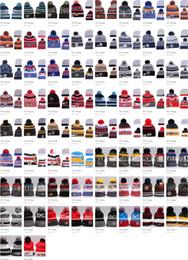 Wholesale Penguin Christmas - 66 styles NHL Women Winter Knitted Wool Cap Blackhawks Penguins Flyers Sharks Beanies Unisex Casual Hats & Caps Men Hip-Hop Beanie Warm Hat