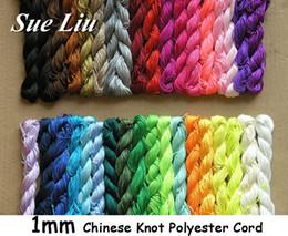 Wholesale Nylon Knots - U Pick! 270yds (27yds x 10pcs) 1mm Chinese Knot Beading Polyester (similar but not nylon ) Cord NCP10, 270yds=250m=810ft