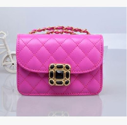 Wholesale girl s purses - Children 's bag Messenger bag girl' s fashion Lingge chain mini Princess bags