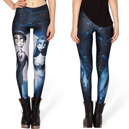 Wholesale Galaxy Girls Pant - Fashion Women Leggings Shinng Galaxy Leggings Corpse Bride Women Casual women Pants Good elastic Girls yoga Capris