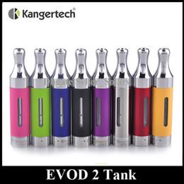 Wholesale Kanger Tank Ego - Authentic Kanger EVOD 2 Atomizer 1.5ml Bottom Dual Coil EOVD2 Glassomizer EGO Thread Kangertech BDC Tank In Stock
