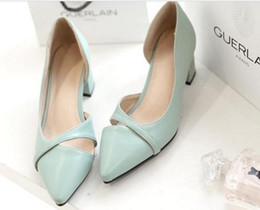 Wholesale Sexy Shoes Small Heels - In the spring of new small fresh leisure shoes with thick and sexy woman pointed shoes cross