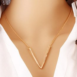 Wholesale Singapore Fines - Personality Geometric Triangle Statement Necklace Women Gold Chain Necklace Pendant Necklace Fine Jewelry Collier Femme Party Necklace Gift